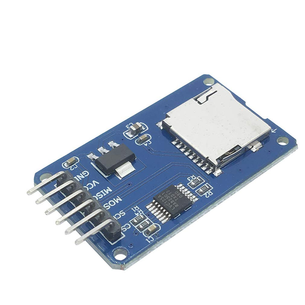 HiLetgo 5pcs Micro SD TF Card Adater Reader Module 6Pin SPI Interface Driver Module with chip Level Conversion for Arduino UNO R3 MEGA 2560 Due by HiLetgo (Image #2)