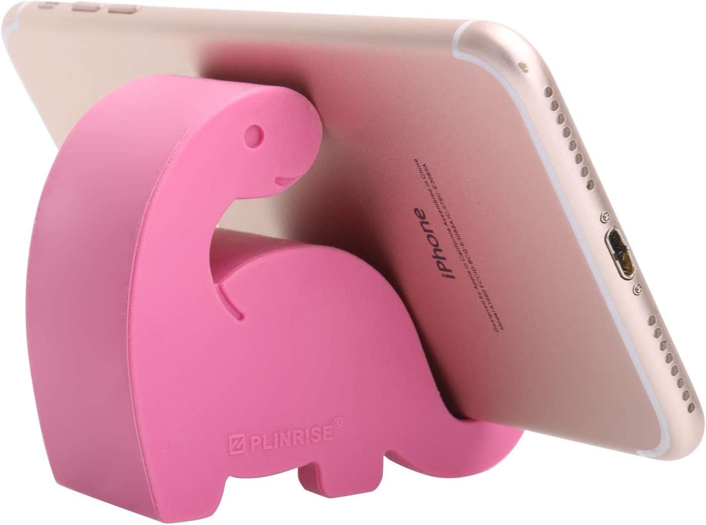 """Plinrise Animal Desk Phone Stand, Update Dinosaur Silicone Office Phone Holder, Creative Phone Tablet Stand Mounts, Size:1.3"""" X 3.0"""" X 2.7"""" (Pink)"""