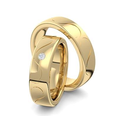 Eheringe Verlobungsringe Paar Trauringe Gold Set Zirkonia