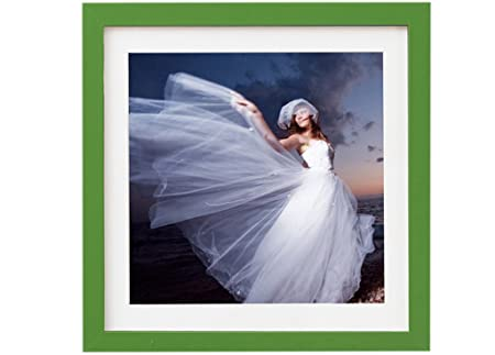 Plastic Frame 15 X 15 Square Picture Photo Frame With White Mount 20