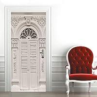 XMDPFF DeurstickersWitte Europese architectuur77x200cm badkamer decoratie behang zelfklevende PVC kunstenaar home design…