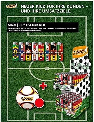 BIC Fútbol Fan del Paquete 100 Unidades J26 futbolín Edition Plus de fútbol de fútbol WM 2018 Fan Artículo: Amazon.es: Juguetes y juegos