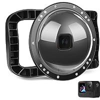 D&F Onderwater Dome Poort voor GoPro Hero 9 Zwart, Twee Handgreep Geïntegreerde Behuizing Dome 45 m/147ft Waterdicht…