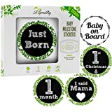 Lil Sproutling Baby Monthly Milestone Stickers – Set...