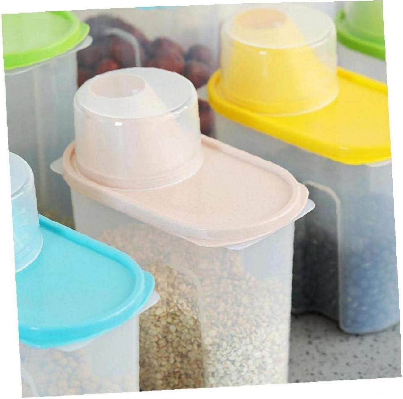 2.5L Multi-Grain vasetti di plastica da Cucina Organizzatore di Tenuta del Serbatoio per Riso Cereali integrali Kacniohen 4 Pezzi Rice Contenitore di immagazzinaggio