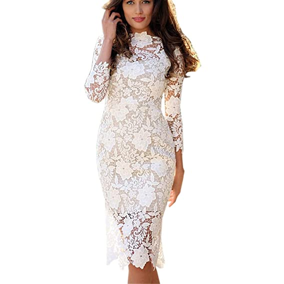 Vectry Vestido Largo Espalda Encaje Vestidos De Fiesta Largos Elegantes Vestidos Casuales Para Mujer Vestidos Mujer Primavera 2019 Vestidos Coctel
