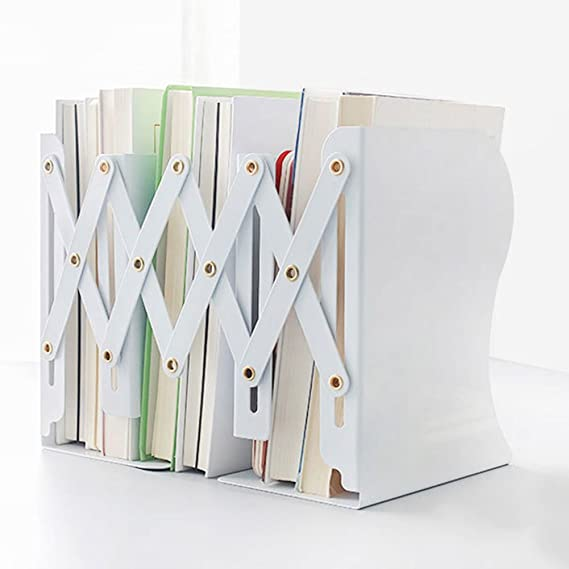 Fermalibri Espansione del metallo Fermalibri Studente Fermalibri Heavy Duty Fermapacco da tavolo Scrittorio Book Book Bookshelf Book Divisori Rack Organizer Non slip