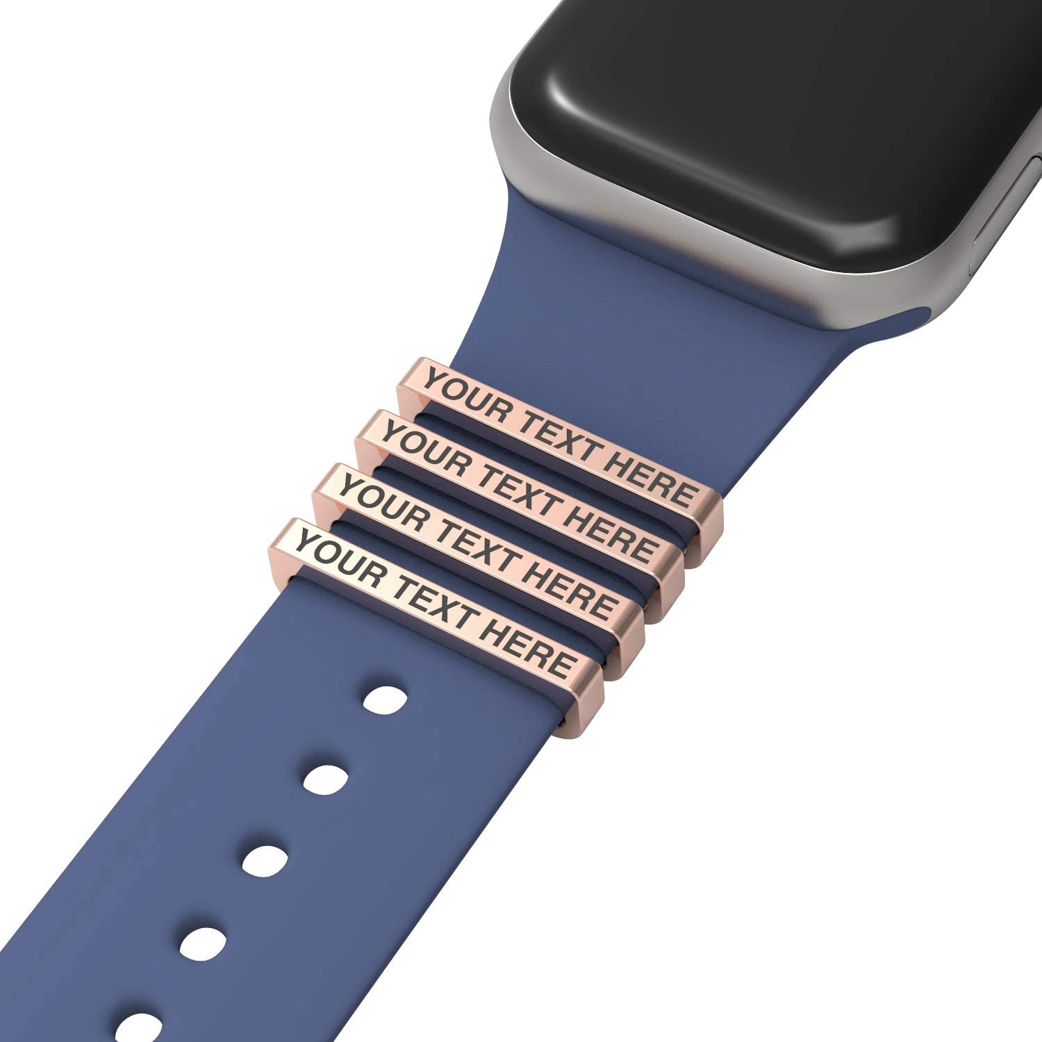 Callancity 4pcs/Sets Watch Band Charms Decorative Ring Loops Compatible for Smart Watch Band Series 5/4/3/2/1