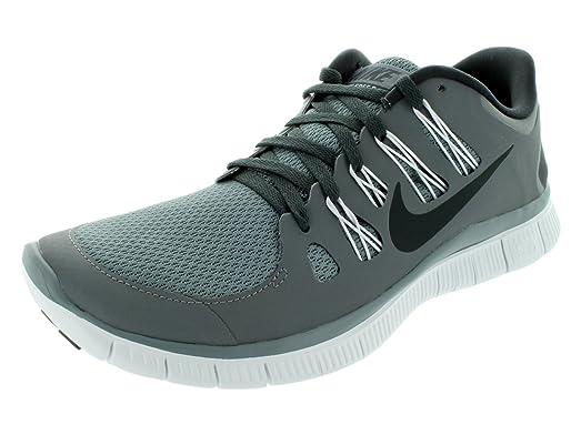 Nike Hommes Libre 5,0 Noir / Blanc / Anthracite Chaussure De Course