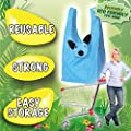 Cute Carriers Variety Pack: Eco-friendly, Reusable Shopping Tote Bags! Eight Fun Characters - 8 Pack