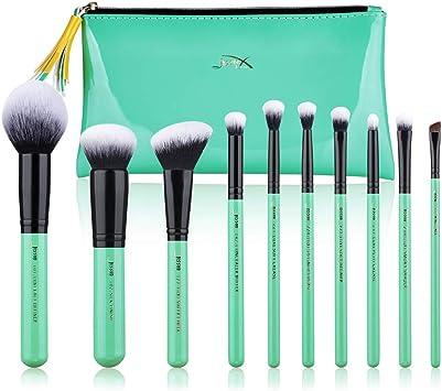 Jessup Pinceles de maquillaje Set de brochas para el rostro con base en polvo Kits cosméticos de cabello sintético 10 piezas (T278): Amazon.es: Belleza