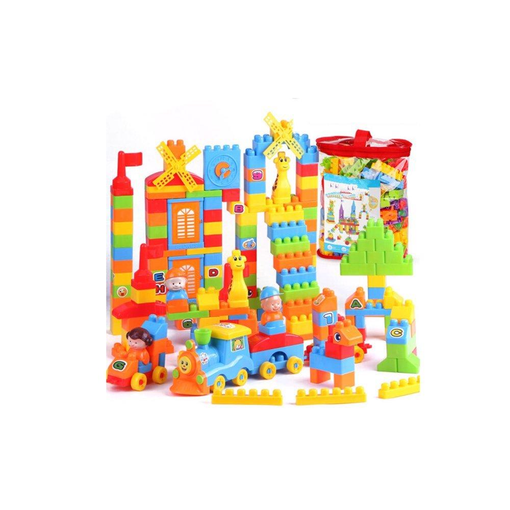 Sunasd Bau Spiel Frühen Bildung Puzzle Kinderspielzeug Große Teilchen Burg Bausteine Rechtschreibung Einfügen Kreative DIY 240 Taschen, 240