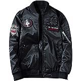 kiden メンズ ミリタリー ジャケット中綿 両面着 MA1 フライトジャケット ジャンパー 秋春冬 ブルゾン カジュアル 刺繍 大きいサイズ 防風 厚手