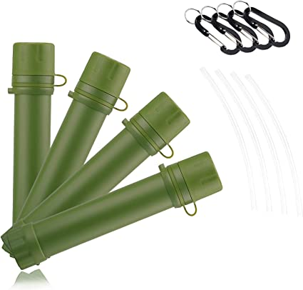 Water Straw Tube Purifier Survival For Outdoor Hiking New Camping H5M8