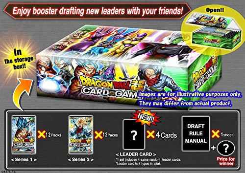 Dragon Ball Z Super Draft 01 Booster Box: 24 packs + 4 leader cards! (Galactic Battle & Union Force Series (Power Battle Box)