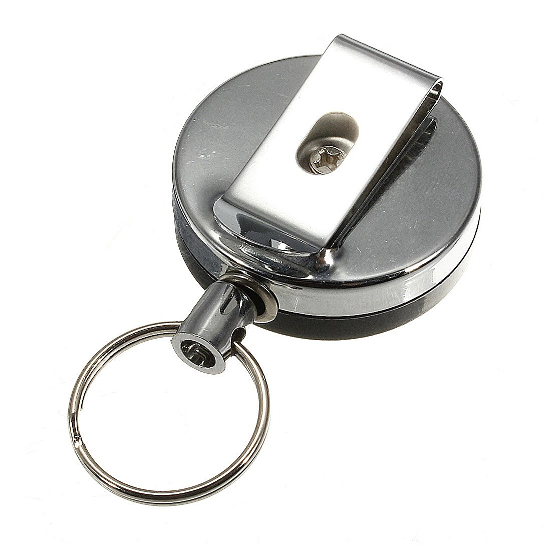 Retractable Steel Recoil Ring Key Chain Holder Clip Bustrill Co. LTD