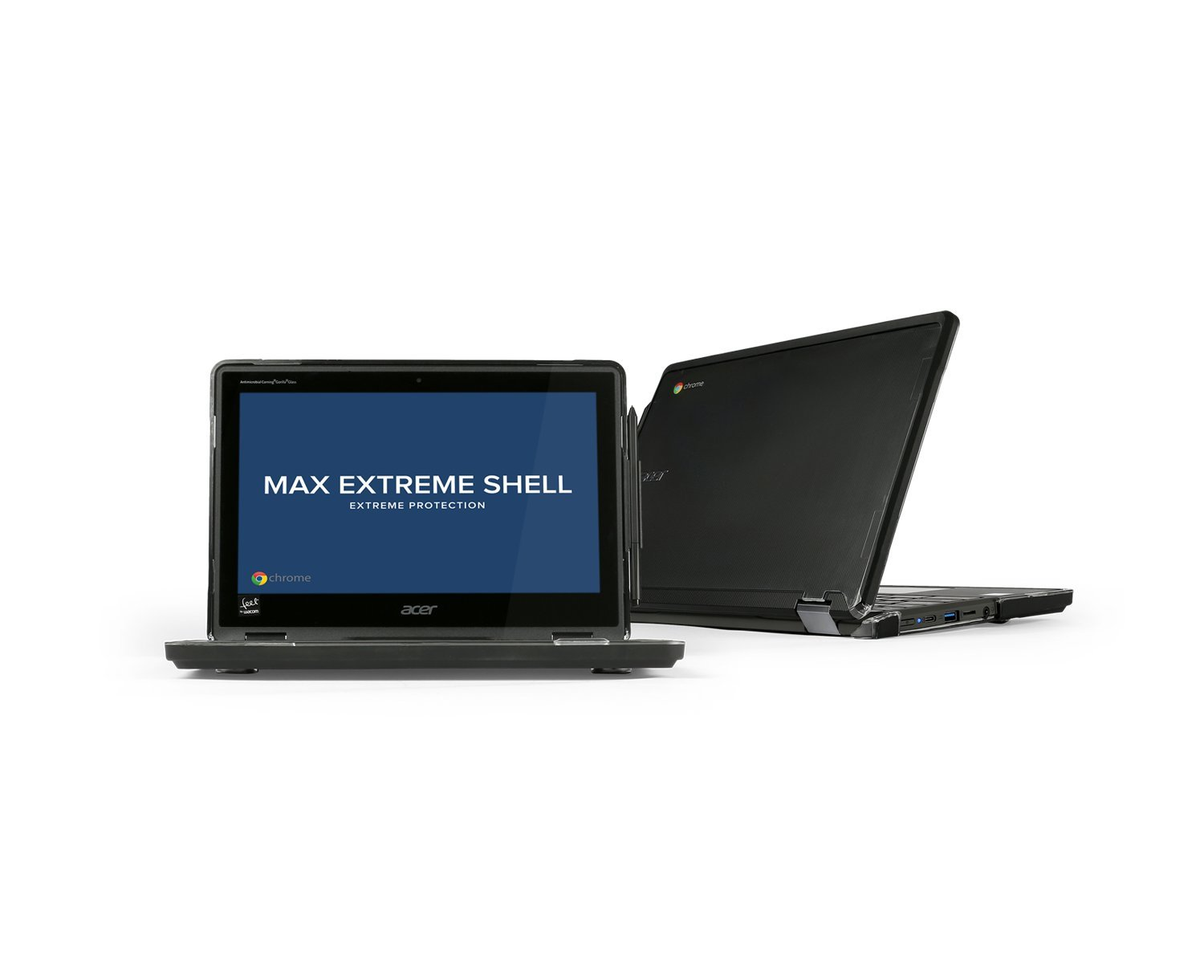 Max Cases Extreme Shell Case ACER Chromebook Spin 11 (R751T) Convertible, Google x 360 - BlackONLY FITS R751T Model