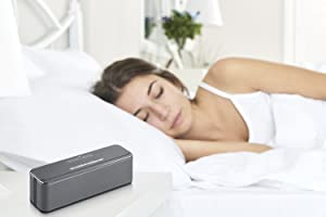 Sound Oasis Stereo Bluetooth Sound Machine for Sleep and Tinnitus Masking, 20 Non-Looping Soothing Sounds Plus Pink Noise, Hi-Fidelity Speakers, Portable Sound Therapy for Home, Baby, Office or Travel