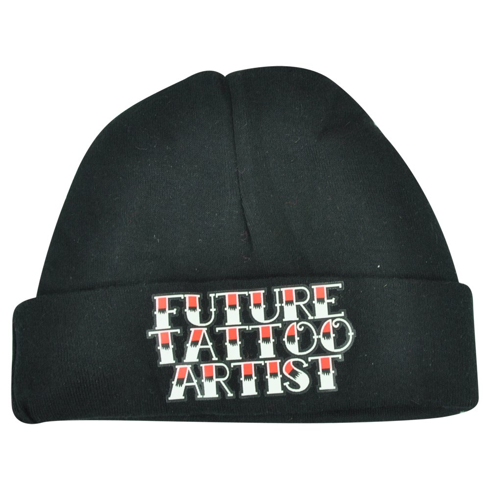 361e76b4b2b Future Tattoo Artist Infant Baby Humor Funny Boys Cuffed Knit Beanie Black  Hat  Amazon.co.uk  Clothing