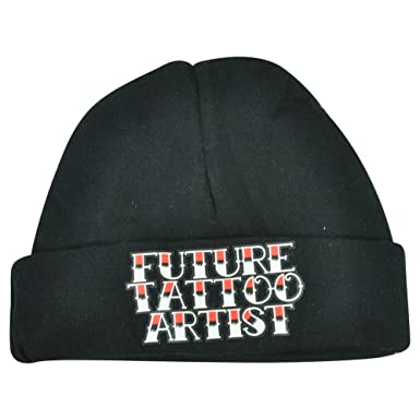 0f1522200fa Image Unavailable. Image not available for. Colour  Future Tattoo Artist Infant  Baby Humor Funny Boys Cuffed Knit Beanie Black Hat