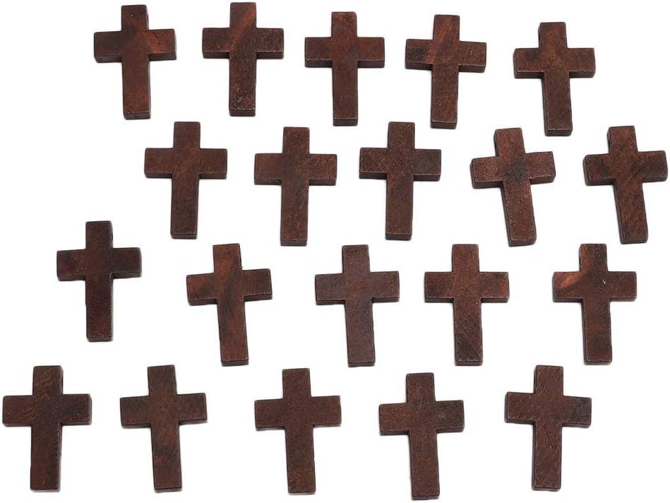 20Pcs Cruz Colgantes Cruces Madera para DIY Collar Pulsera Joyería Que Hace Accesorios para Joyas
