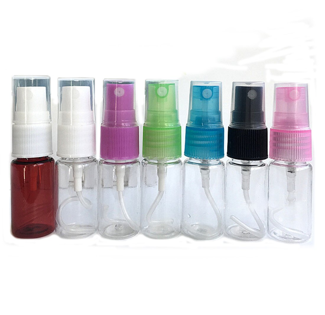Flyusa 20 Pcs Portable Perfume Make up Clear Empty Spray Sprayer Bottle Cosmetic Atomizers PET Spray Bottles,10ml by Flyusa (Image #6)
