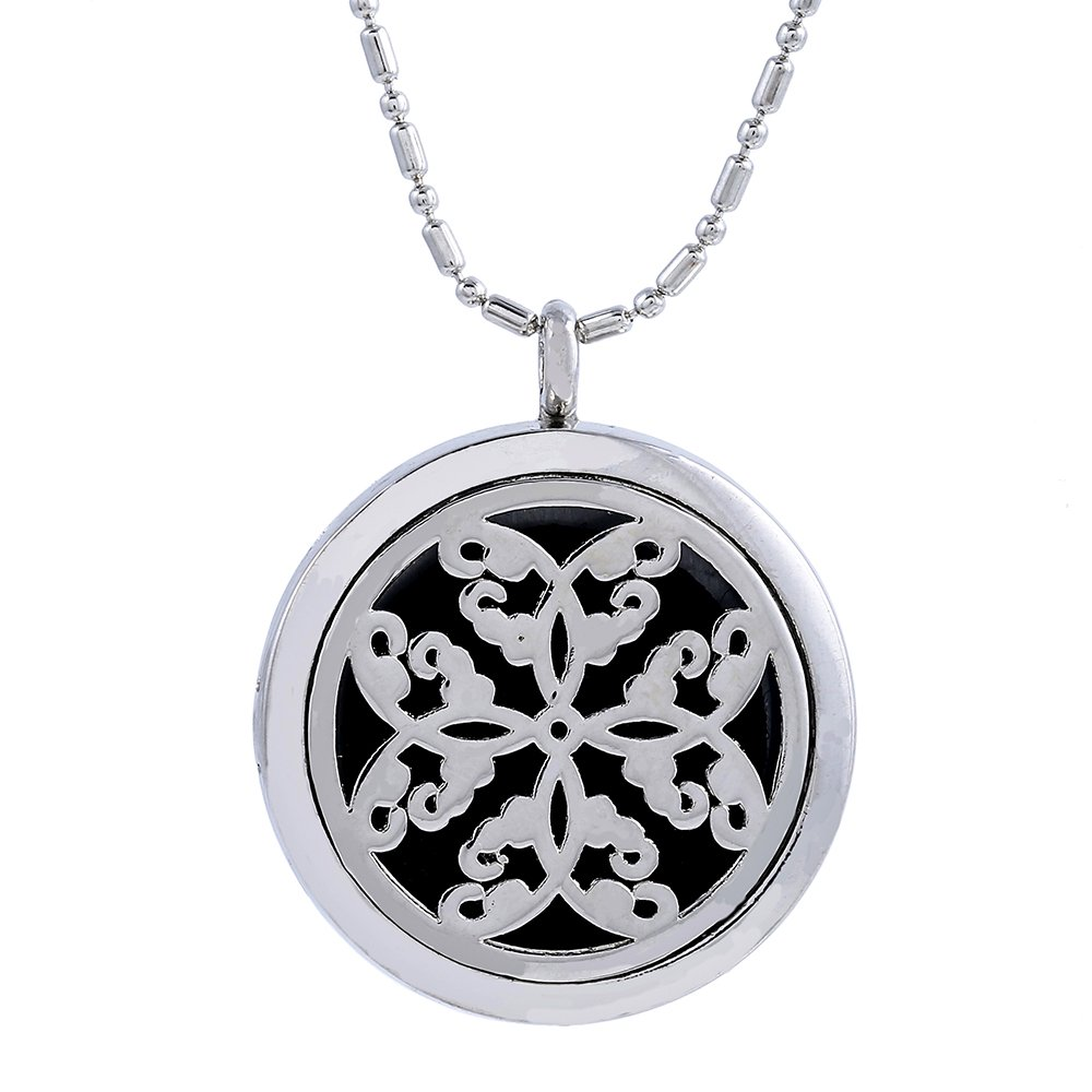 6d16943a0287 Amazon.com: Paw Paw House Aromatherapy Essential Oil Diffuser Necklace  Floating Charm Locket Pendant Stainless Steel (5101-1): Jewelry