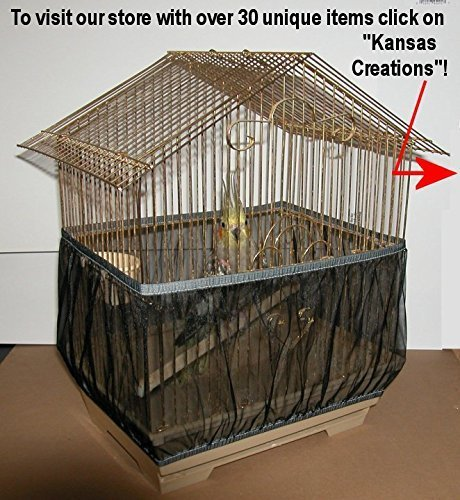 Sheer Guard Bird Cage Skirt - Large Size (Black)