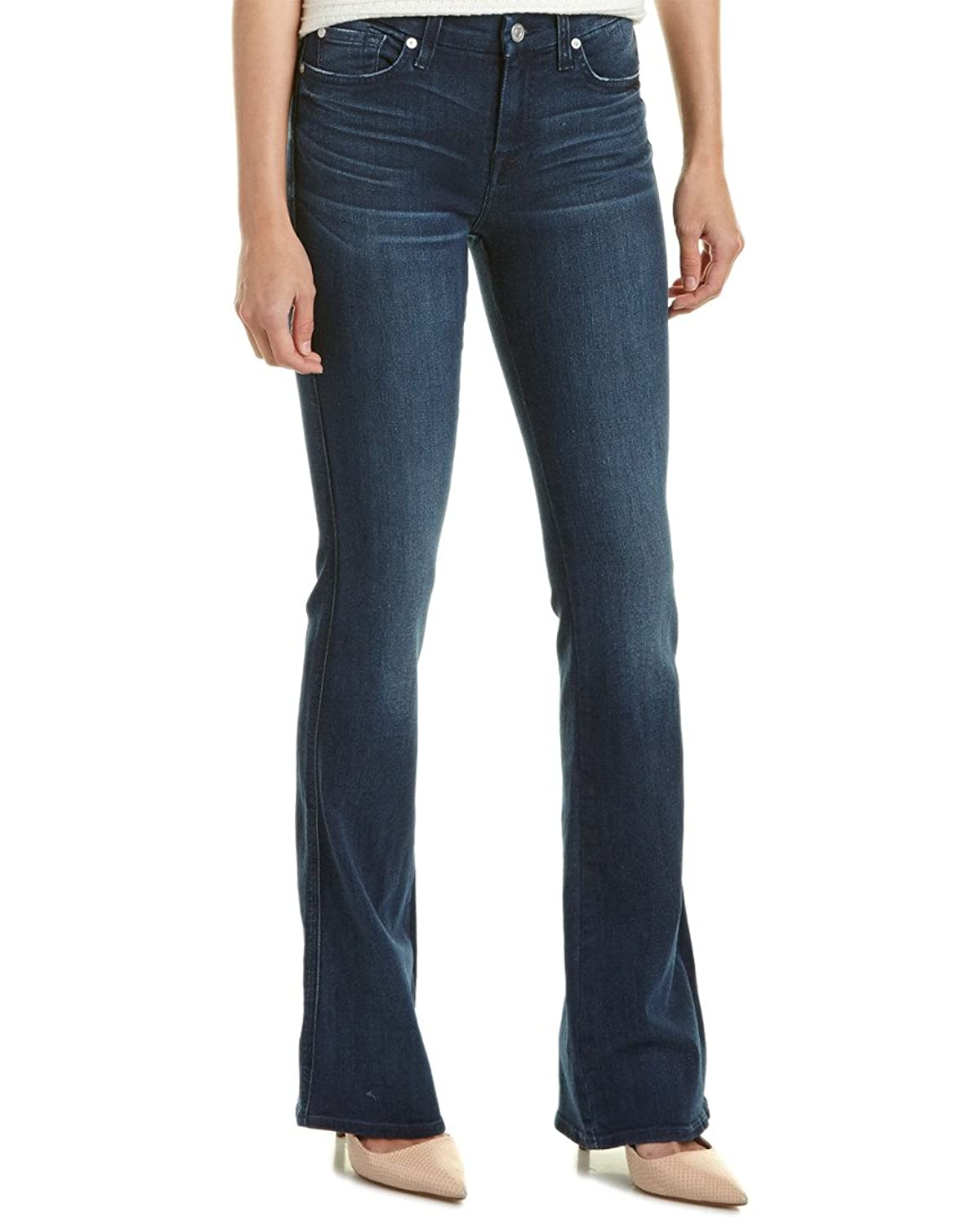 7 For All Mankind A Pocket Medium Mount Rose Straight Leg