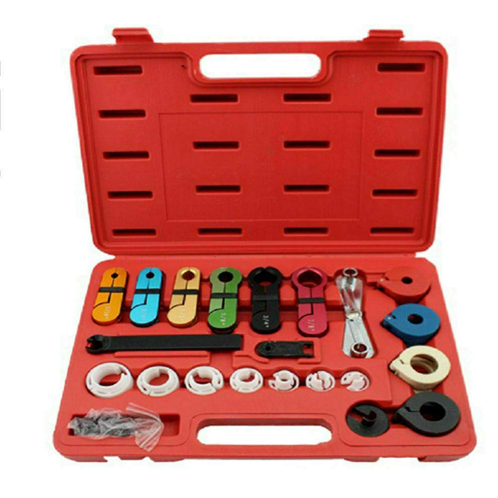Lfhelper 22Pc Fuel Oil Transmission A/C Line Disconnect Tool Set With Carriy Case Portable For Oil Cooler Line Fuel Line Disconnect