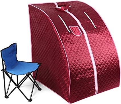 Rosa Mini sauna mobile a vapore Sauna domestica Cabina termica Sauna per sedersi Cabina sauna