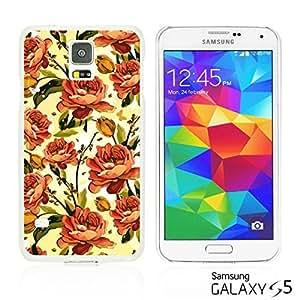 OnlineBestDigitalTM - Flower Pattern Hardback Case for Samsung Galaxy S5 - Orange Roses