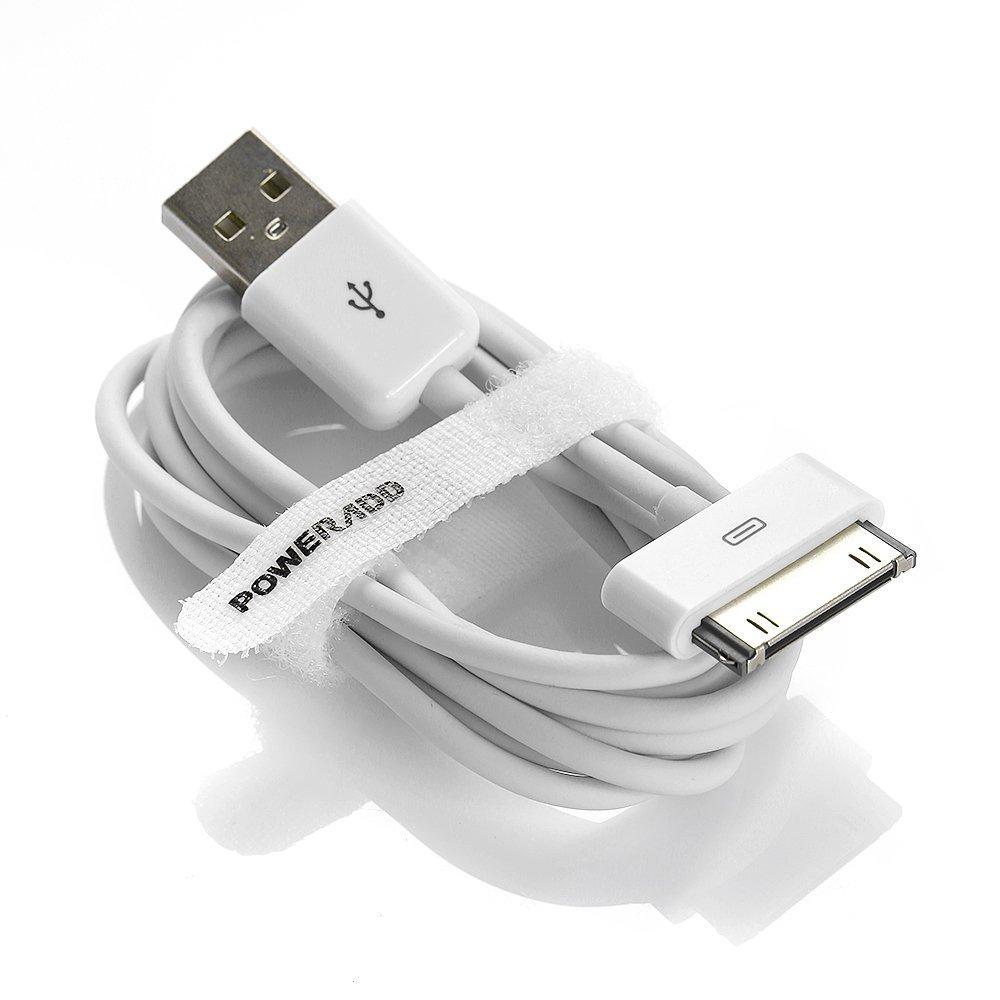 Poweradd 30-Pin Câble USB de Charge et Synchronisation vers Lightning pour iPhone 4S/4, iPad 1/2/3, etc [Certifié Apple MFI] .