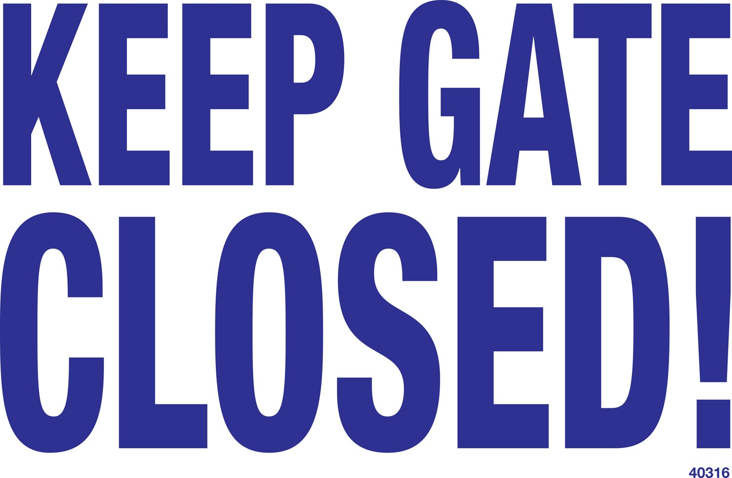 Poolmaster 40316 Keep Gate Closed Sign for a Residential or Commercial Pool