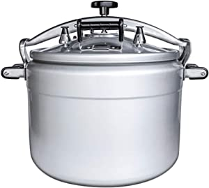 Pressure cooker, commercial pressure cooker, large capacity explosion-proof gas aluminum alloy pressure cooker, suitable for restaurants, hotels, etc. (Color : Silver, Size : 25L)