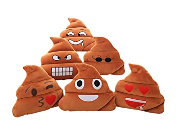 LLQ Cojines Emoji, Emoticón Almohada Suave Peluche, Cojines ...