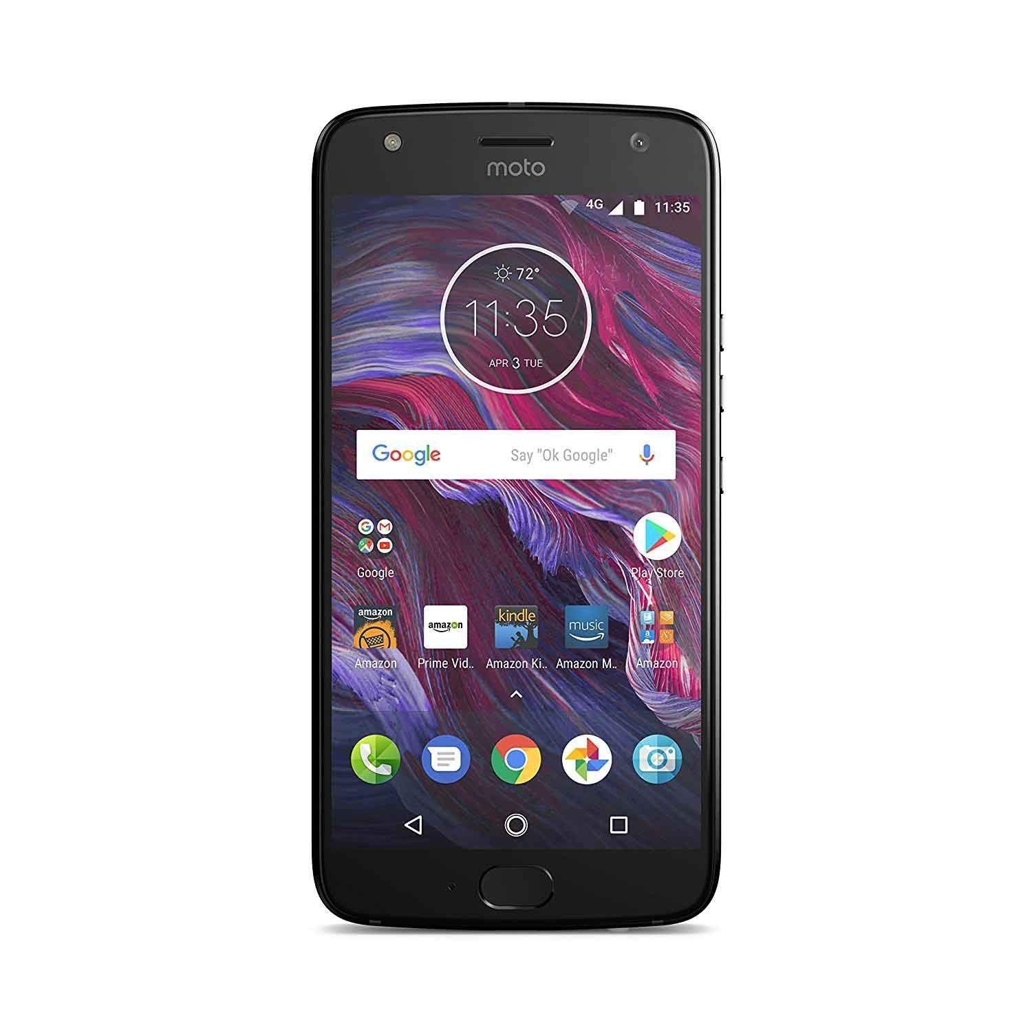 Moto X (4th Generation) - with Amazon Alexa hands-free – 32 GB - Unlocked – Super Black - Prime Exclusive by Motorola (Image #1)
