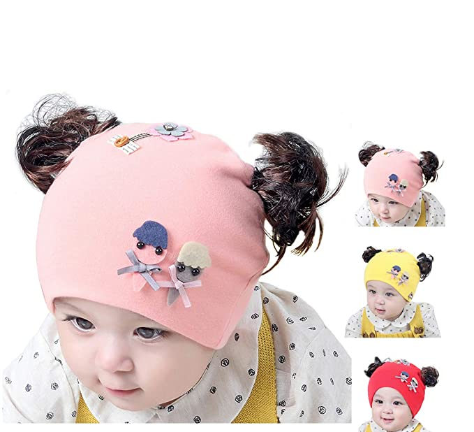 9160d9d20 Amazon.com: BriStory Newborn Baby Cotton Knitted Hat, Warm Infant ...