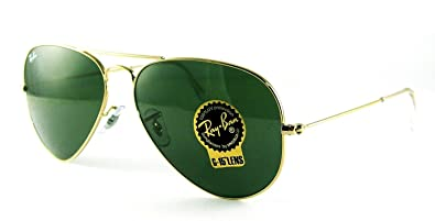 green aviator sunglasses  Amazon.com: Ray-Ban RB3025 Classic Aviator Sunglasses Gold/Crystal ...