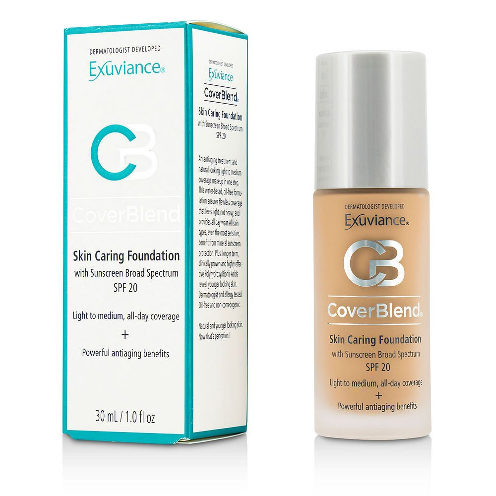 Exuviance by CoverBlend Skin Caring Foundation SPF20 - # Honey Sand --30ml/1oz for WOMEN ---(Package Of 6)