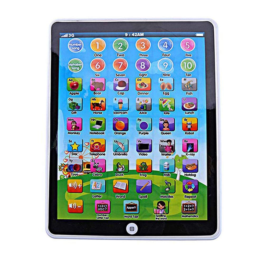 BeesClover Kids Mini Imitativo iPad Juguete Inteligente Aprendizaje Early Educativo Jugar Tablet Juguetes Navidad Cumplea/ños Regalo para Ni/ñas Ni/ños Beb/é M/áquina de Aprendizaje