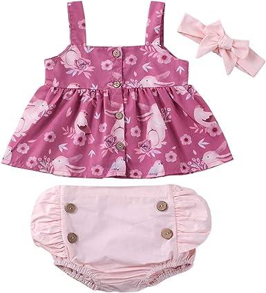 Newborn Baby Girls 2-Pack Romper Bodysuits Cotton Flutter Sleeveless Backless Jumpsuit Clothes
