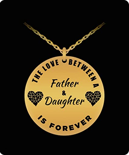 amazon com father daughter necklace gold plated laser engraved