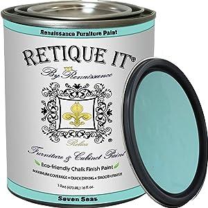Retique It RFP-P16-SevenSeas by Renaissance Furniture Paint, 16 oz (Pint), Seven Seas