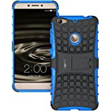 Heartly Flip Kick Stand Spider Hard Dual Rugged Armor Hybrid Bumper Back Case Cover For Letv Le 1S / LeEco Le 1s Eco / LeEco Le 1S - Power Blue