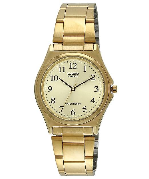 Casio MTP-1130N-9B - Reloj analógico de Cuarzo para Hombre, Correa de Acero Inoxidable Color Dorado: Casio: Amazon.es: Relojes