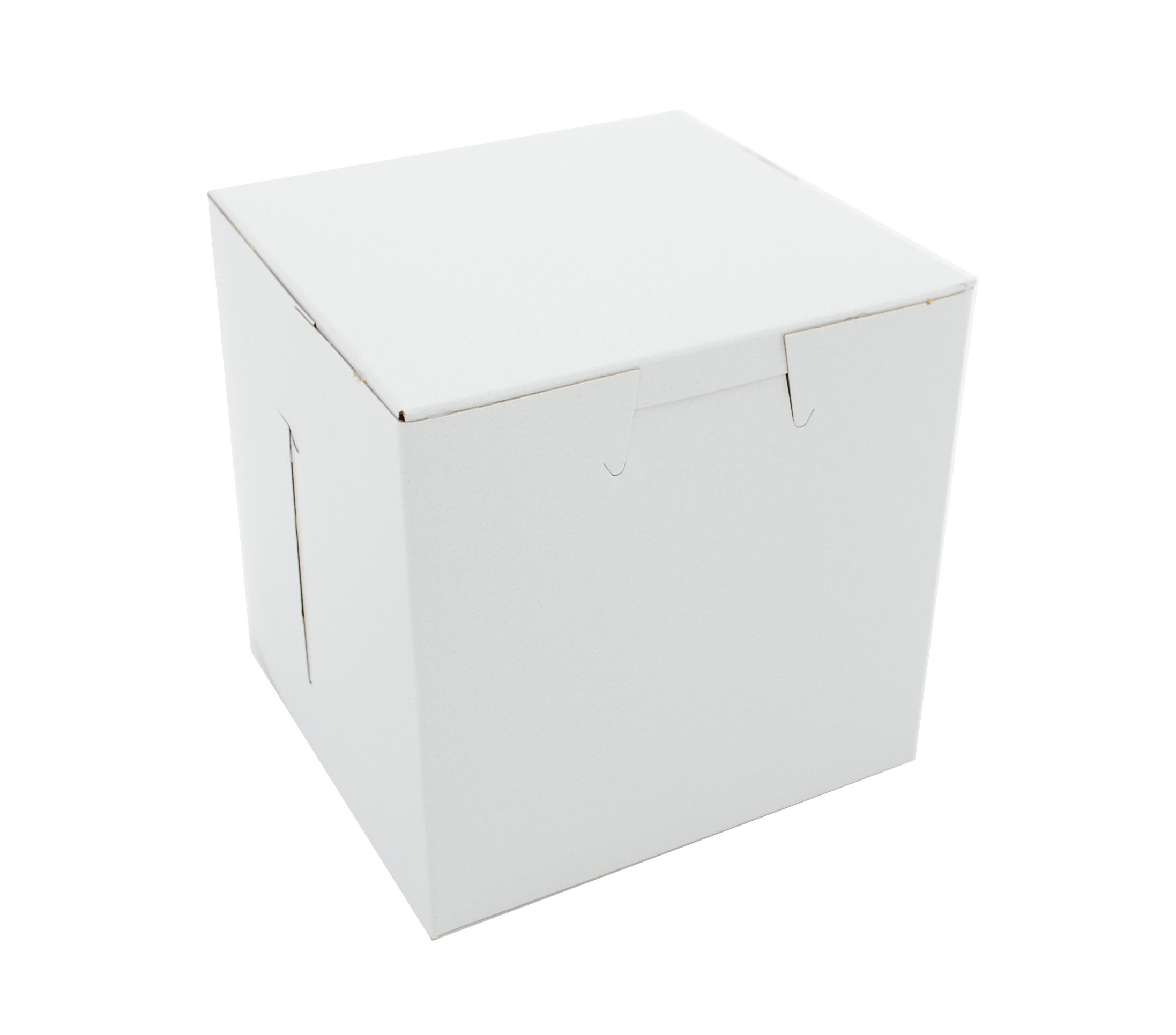 Southern Champion Tray 0908 Premium Clay Coated Kraft Paperboard White Non-Window Lock Corner Bakery Box, 4-1/2 Length x 4-1/2 Width x 4-1/2 Height (Case of 200)