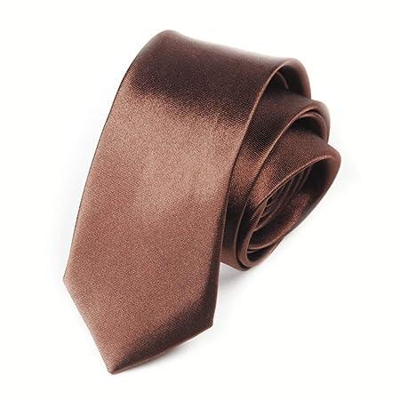 Anglayif Corbata de Hombre Color sólido Corbata Color sólido ...