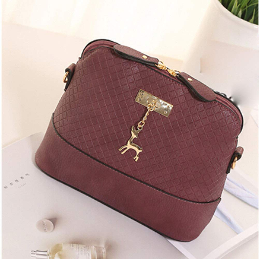 Women Bag JJLIKER Fashion Flower Pattern Leather Crossbody Bag Clearance !