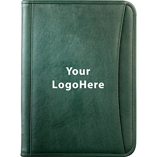 DuraHyde Zippered Padfolio - 48 Quantity - $13.30 Each - PROMOTIONAL PRODUCT/BULK/BRANDED with YOUR LOGO/CUSTOMIZED -